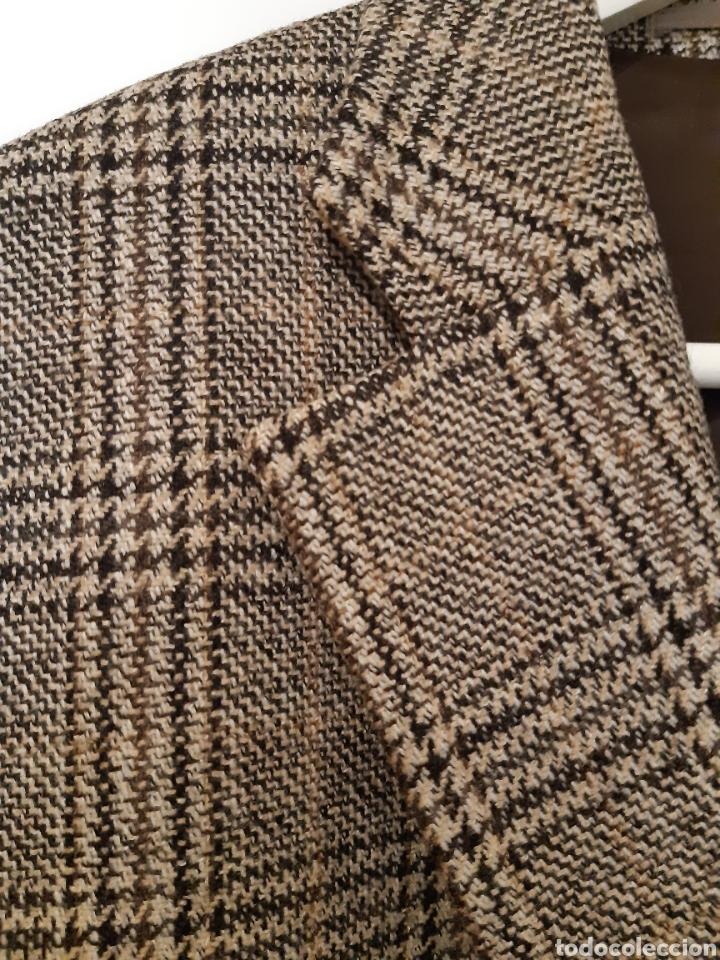 Vintage: Chaqueta Italiana de lana 100% firma BENVENUTO. Años 90. - Foto 4 - 222114170