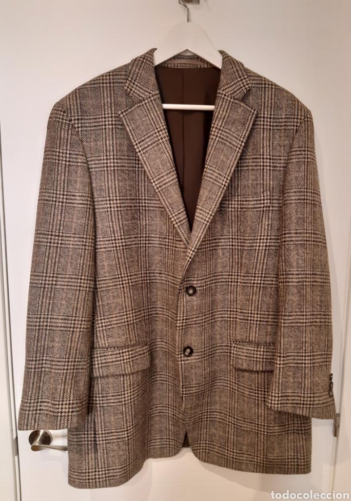 CHAQUETA ITALIANA DE LANA 100% FIRMA BENVENUTO. AÑOS 90. (Vintage - Moda - Hombre)