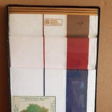 Vintage: CAJA 6 PAÑUELOS GUASCH 100X100 ALGODÓN / MOD 10392R / A ESTRENAR. OCASIÓN.. Lote 222223970