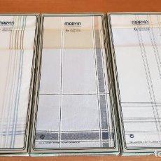 Vintage: 3 CAJAS X 6 PAÑUELOS MARVIN / ALGODÓN 100 X 100 / A ESTRENAR / EN CAJA ORIGINAL.. Lote 222224256