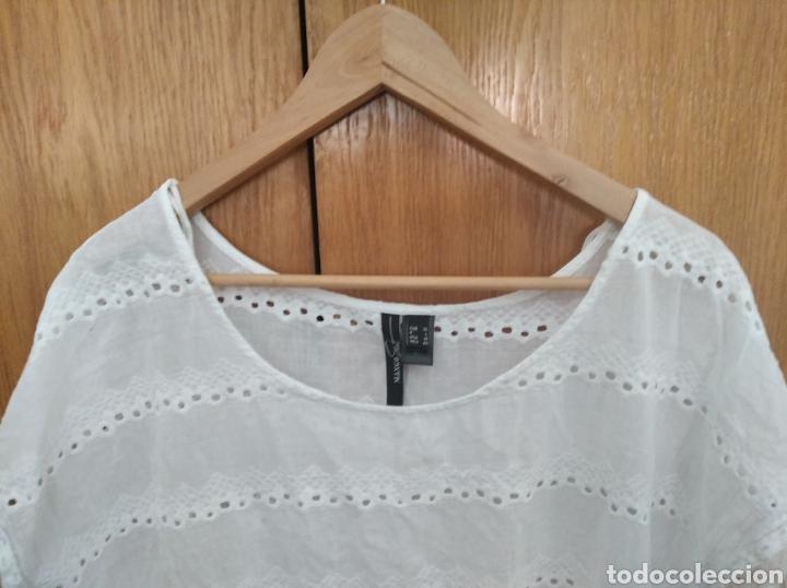 Vintage: Camiseta blusa Mango Suit talla XL blanca - Foto 2 - 222231191