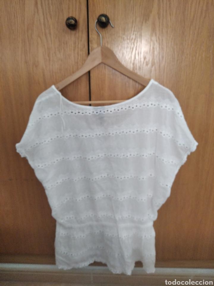 Vintage: Camiseta blusa Mango Suit talla XL blanca - Foto 4 - 222231191