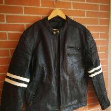 Vintage: CAZADORA CUERO MOTO BIKER GEAR MOTORCYCLE, CON PROTECCIONES . XXL. Lote 222712610