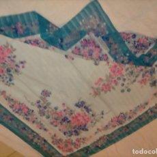 Vintage: PAÑUELO SEÑORA VINTAGE - CUELLO - CUDRADO FLECOS 86 CM APROXI. TIPO GASA SEDA FABRIAM FABRIANI. Lote 222831941