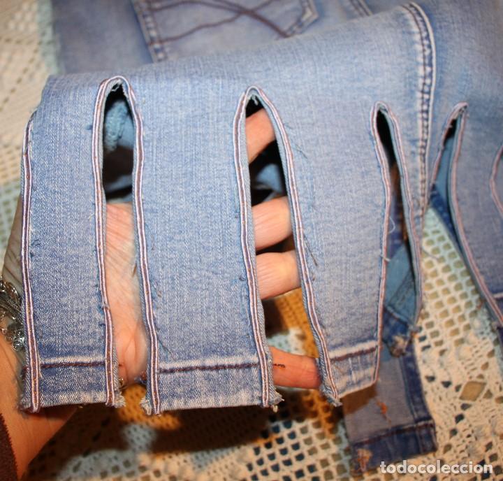Vintage: Falda vaquera con remates de seda estilo centurión, elástica - Foto 2 - 222844867