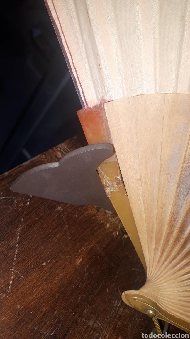 Vintage: Muy antiguo abanico pintado a mano años 50 leer descripción - Foto 2 - 224101622