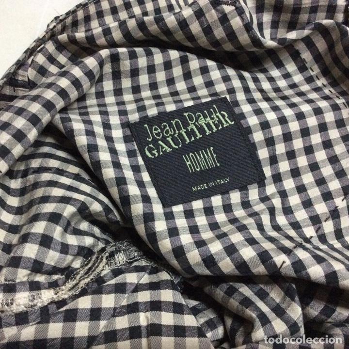 Vintage: Envío 8€ . Pantalón de seda de hombre JEAN PAUL GAULTIER cintura 90, largo 100, ancho camal 20cm - Foto 5 - 224593332