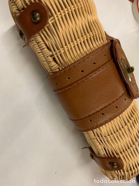 Vintage: Gracioso bolso de mano de enea o junco.Mide aprox 24x10cms sin contar el asa - Foto 11 - 224622807
