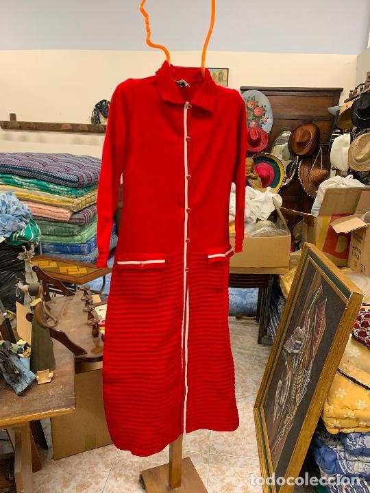 Vintage: Extraordinario vestido o chaqueta-abrigo de punto, absolutamente vintage, años 70. Impecable - Foto 7 - 224624092