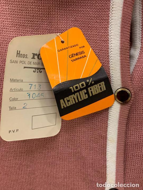 Vintage: Extraordinario vestido o chaqueta-abrigo de punto, absolutamente vintage, años 70. Impecable - Foto 6 - 224624428