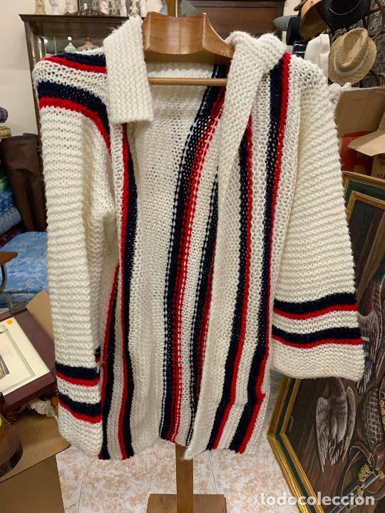 Vintage: Precioso jersey o chaqueta de punto, Vintage. Tejido a mano. Talla unica - Foto 2 - 224634936