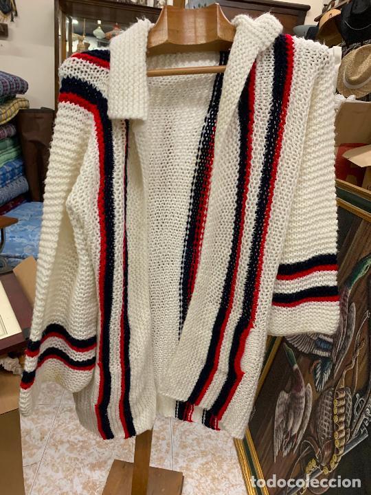 Vintage: Precioso jersey o chaqueta de punto, Vintage. Tejido a mano. Talla unica - Foto 3 - 224634936