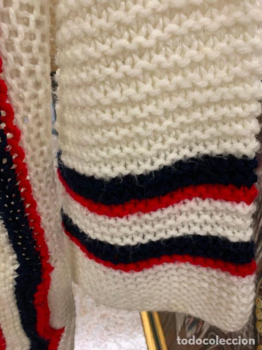 Vintage: Precioso jersey o chaqueta de punto, Vintage. Tejido a mano. Talla unica - Foto 5 - 224634936