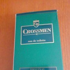 Vintage: BOTELLA DE AGUA DE COLONIA CROSSMEN ORIGINAL. Lote 225922225