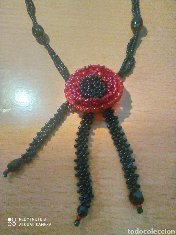 Vintage: Excelente collarcillo de diseño flor central vintage granicilla - Foto 2 - 229603700
