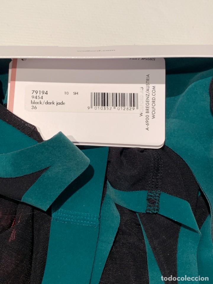 Vintage: Wolford, body moldeador de tul ultraligero, edición 70cumpleaños, negro y jade. Nuevo. Oferta - Foto 7 - 230071470
