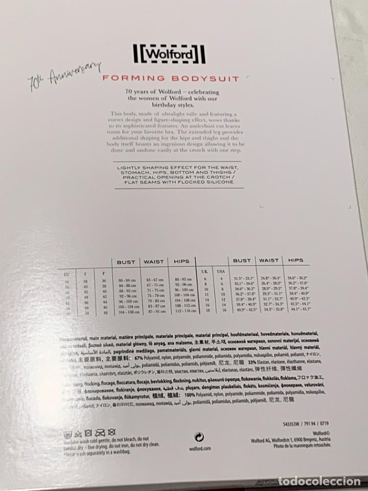 Vintage: Wolford, body moldeador de tul ultraligero, edición 70cumpleaños, negro y jade. Nuevo. Oferta - Foto 12 - 230071470