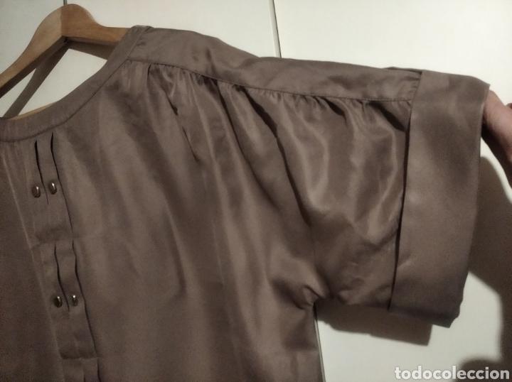 Vintage: Blusa Adolfo Domínguez talla 44 marron - Foto 3 - 233191340