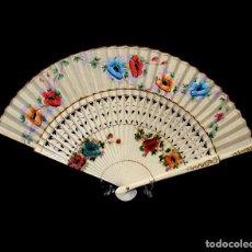 Vintage: ABANICO VINTAGE DECORADO - 23,5 CMS.- AÑOS 60/70 - SIN USO - EN SU CAJA ORIGINAL.. Lote 234881655