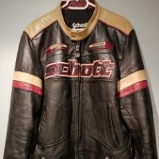 Vintage: MEN'S ORIGINAL SCHOTT LEATHER RACING JACKET SIZE XL - SECOND HAND FREE SHIPPING. Lote 235609370
