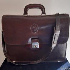 Vintage: MALETIN VINTAGE EN PIEL DE HOMBRE.. Lote 235697405