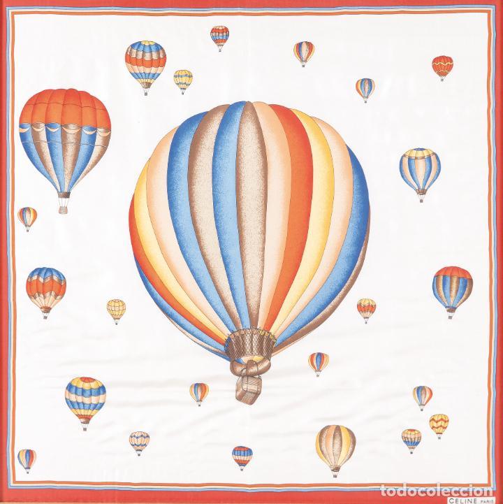 Vintage: Pañuelo de seda estampada con globos Enmarcado Celine París - Foto 2 - 236040020