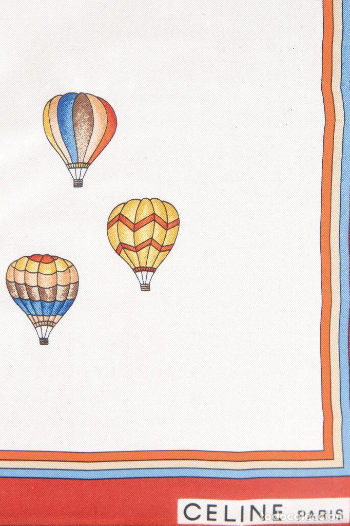 Vintage: Pañuelo de seda estampada con globos Enmarcado Celine París - Foto 4 - 236040020