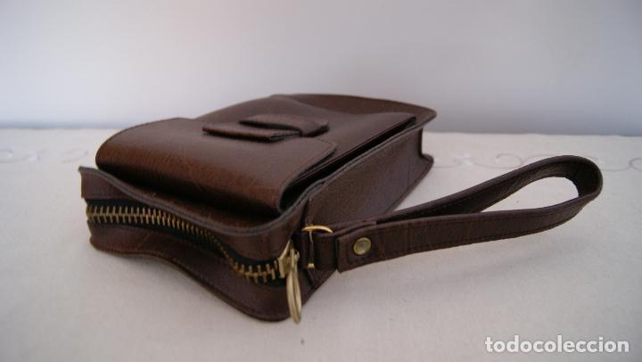 Vintage: Bolso de mano hecho en cuero grueso Piel Marrón - Foto 2 - 236133215