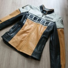 """Vintage: WOMEN'S MOTORCYCLE LEATHER JACKET YAMAHA ORIGINAL SIZE S """"50TH ANNIVERSARY"""" - REAL VINTAGE. Lote 236267850"""
