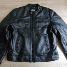 "Vintage: UNISEX LEATHER JACKET ORIGINAL BULTACO CAFE RACER STYLE SIZE L ""SAN CRISTOBAL"" EDITION REAL VINTAGE. Lote 236270115"