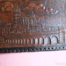 Vintage: SALAMANCA CARTERA DE CUERO REPUJADO EN PIEL. Lote 239856785