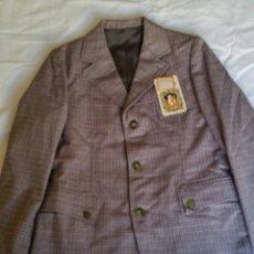 Vintage: CHAQUETA DE CABALLERO TALLA 40 SIN USAR CON SUS ETIQUETAS. AÑOS 60. LEER CONDICIONES ANTES DE PUJAR.. Lote 239917165