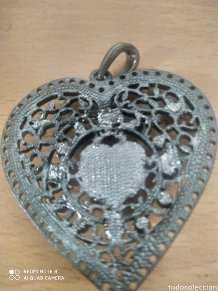 Vintage: Bonito colgante raro vintage corazón grande esmaltes y perlas - Foto 2 - 240279890