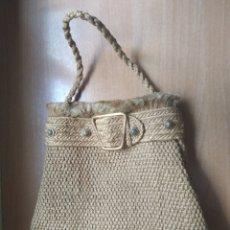 Vintage: BOLSO VINTAGE ESPARTO. Lote 241044325