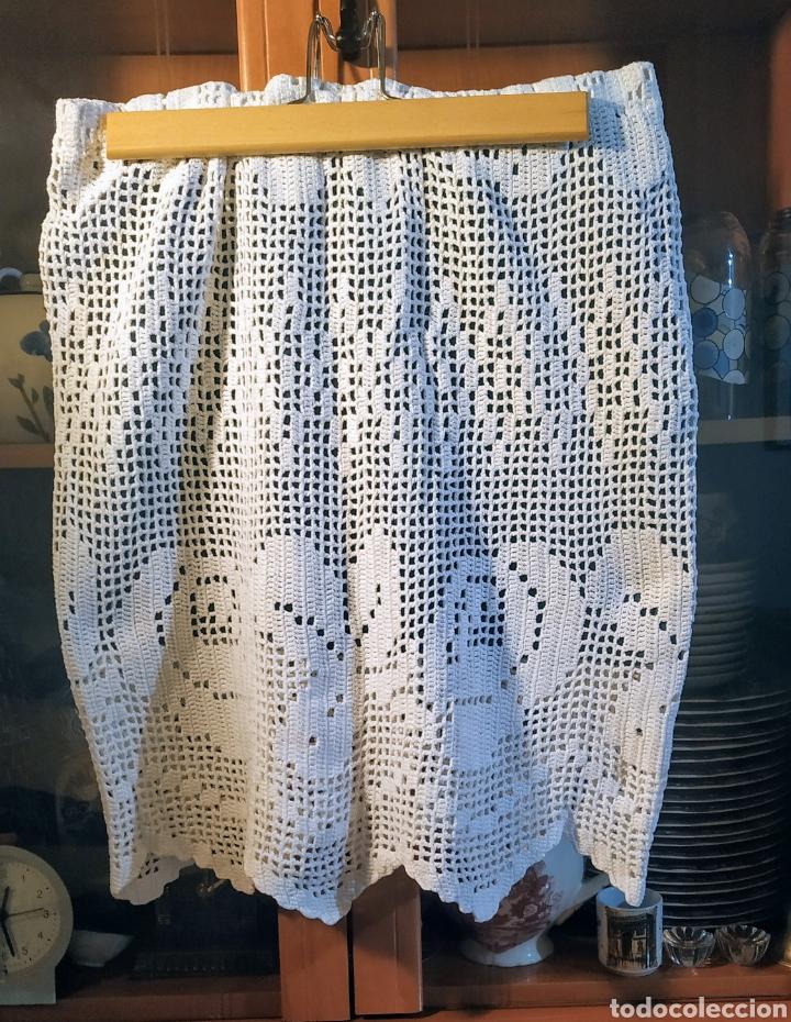 LINDA FALDA GANCHILLO ELÁSTICA (Vintage - Moda - Mujer)