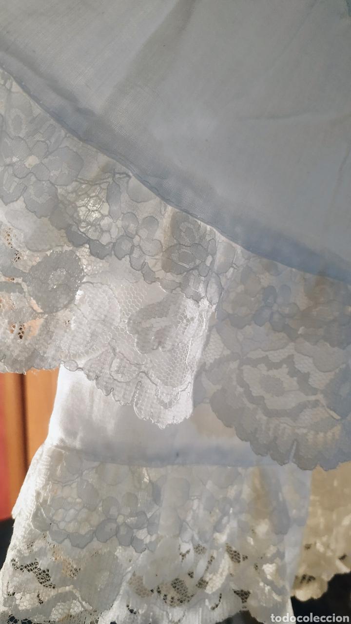 Vintage: Falda de algodón,con volantes de encaje - Foto 2 - 243070370