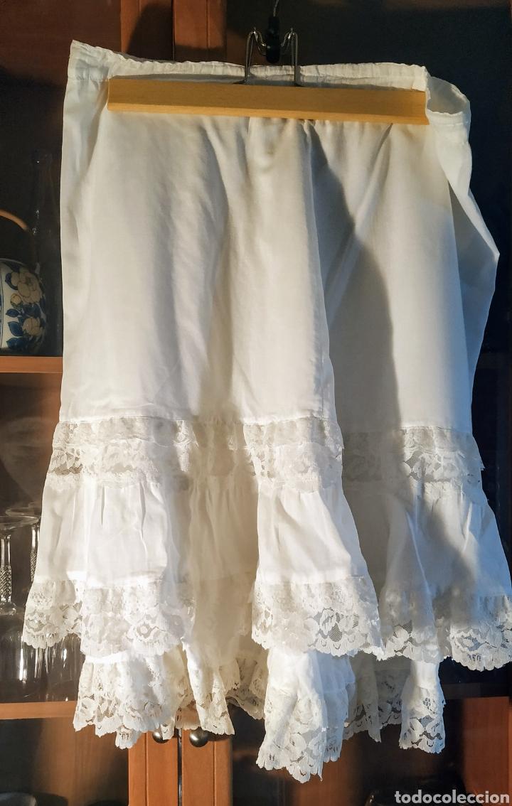 Vintage: Falda de algodón,con volantes de encaje - Foto 3 - 243070370