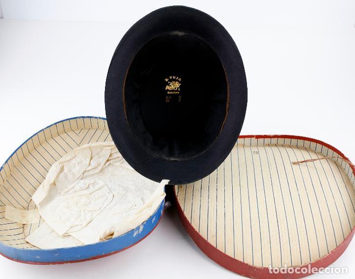 Vintage: Sombrero de copa plegable con caja original. Ver fotos. - Foto 2 - 243577140