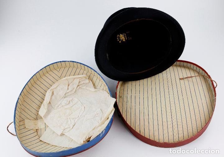 Vintage: Sombrero de copa plegable con caja original. Ver fotos. - Foto 3 - 243577140