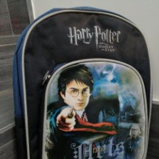 Vintage: MUCHILA NUEVA A ESTRENAR PARA EL COLEGIO NIÑO HARRY POTTER ABD THE GOBLER OF FIRE DARK WARNER BROS. Lote 243976300