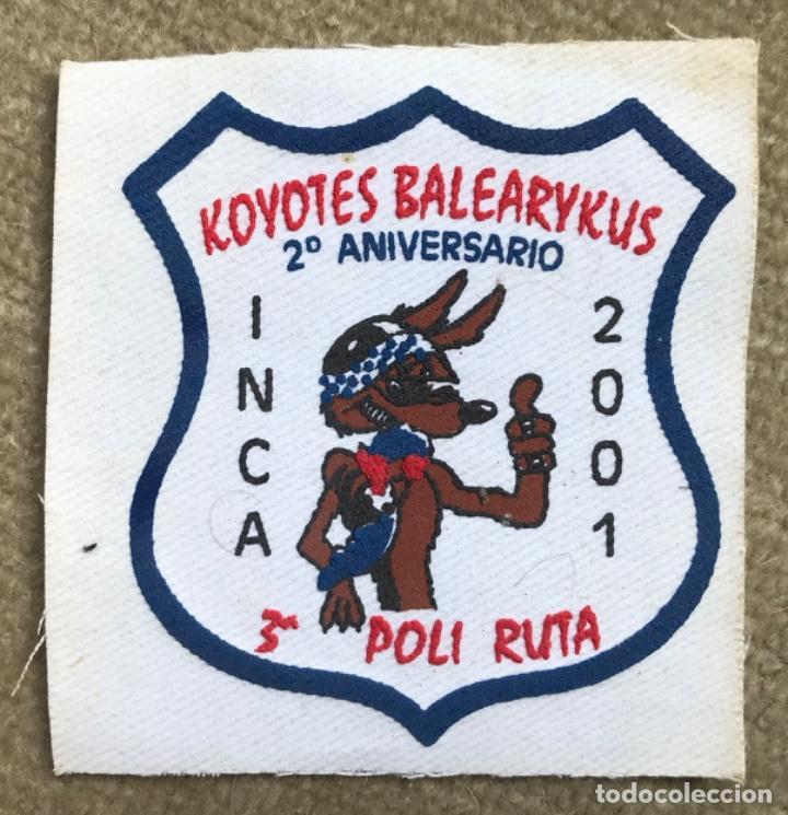 PARCHE MOTERO KOYOTES BALEARIKUS - 2º ANIVERSARIO - INCA, 2001 - MALLORCA - MOTOCICLISMO (Vintage - Moda - Complementos)