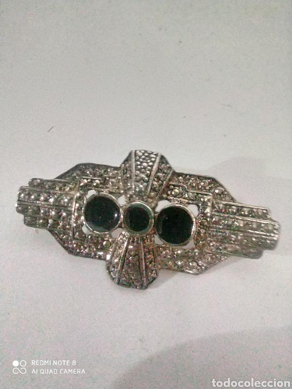 Vintage: Broche antiguo con esmalte y rodio - Foto 3 - 245718585