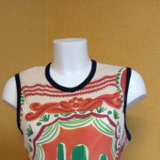 Vintage: BLUSA PARA MUJER. TALLA L. COLOR VERDE/NARANJA.. Lote 248145570