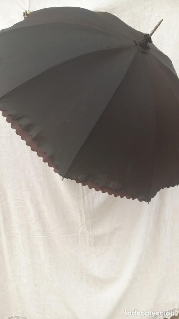 Vintage: Paraguas, interior pintado a mano, doble cara, hacia 1960 70. - Foto 7 - 252822200
