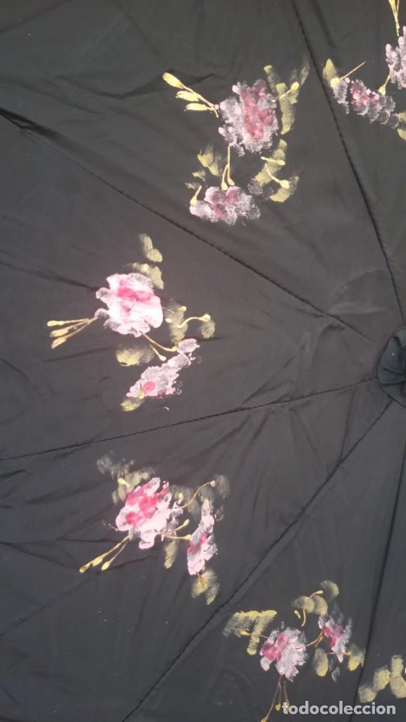 Vintage: Paraguas, interior pintado a mano, doble cara, hacia 1960 70. - Foto 10 - 252822200