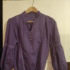 Vintage: BLUSA LARGA MORADA TALLA S. Lote 253939345