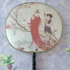 Vintage: BONITO PAYPAY JAPONES DE TEJIDO Y MADERA.. Lote 253992620