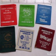 Vintage: LOTE 6 CARTERAS LOTERIAS VINTAGE. Lote 254821010