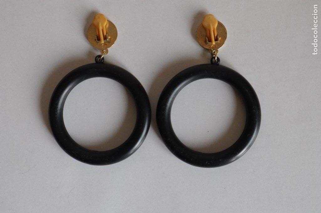 Vintage: Pendientes de pinza aros grandes XL. Años 80 - Foto 2 - 258160550
