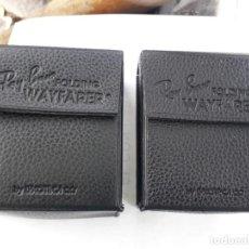 Vintage: DOS FUNDAS DE GAFAS RAYBAN PARA GAFAS PLEGABLES. Lote 259307015